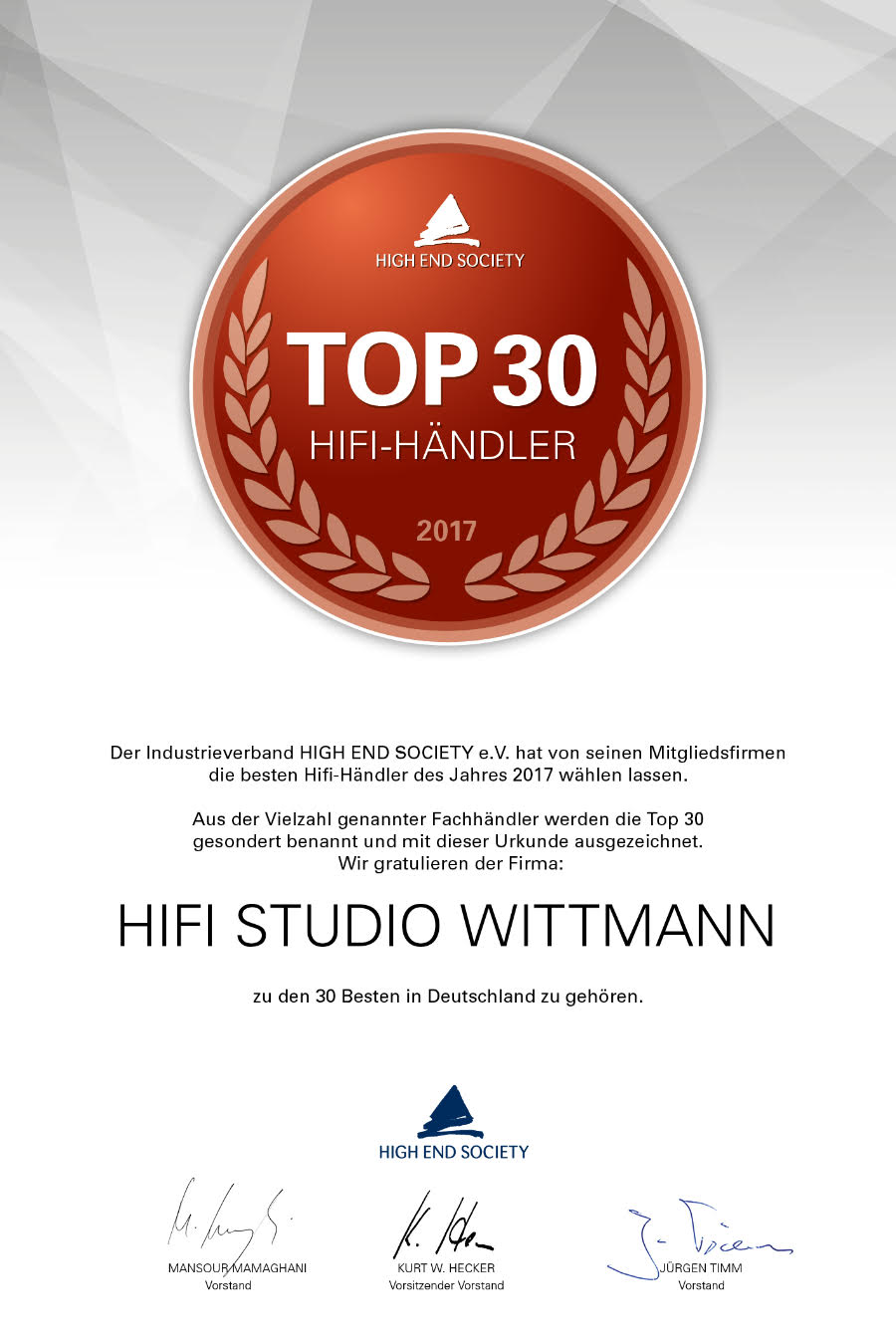 hifi studio wittmann in stuttgart high end society top 30. Black Bedroom Furniture Sets. Home Design Ideas